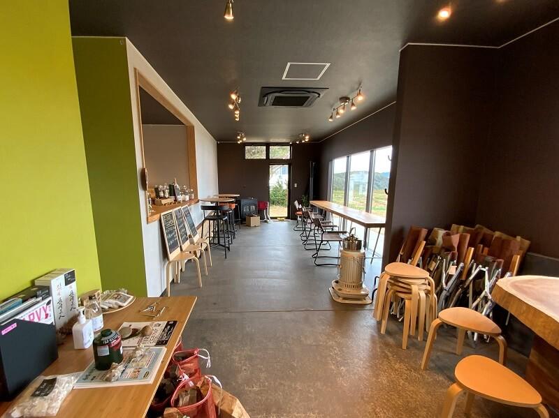中瀬草原キャンプ場 管理棟のカフェ