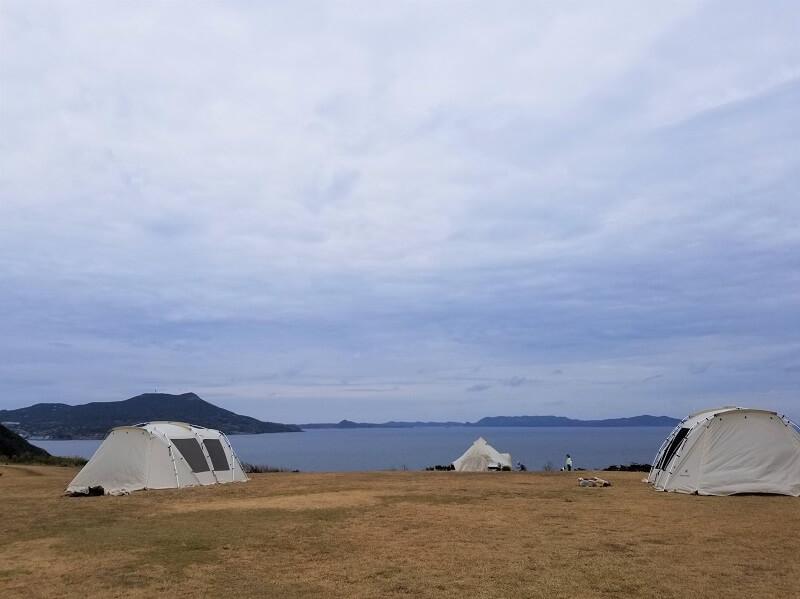 中瀬草原キャンプ場 スノーピークのレンタルテント