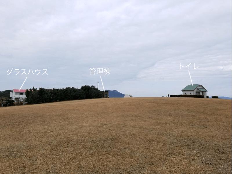 中瀬草原キャンプ場 展望サイト 南エリア