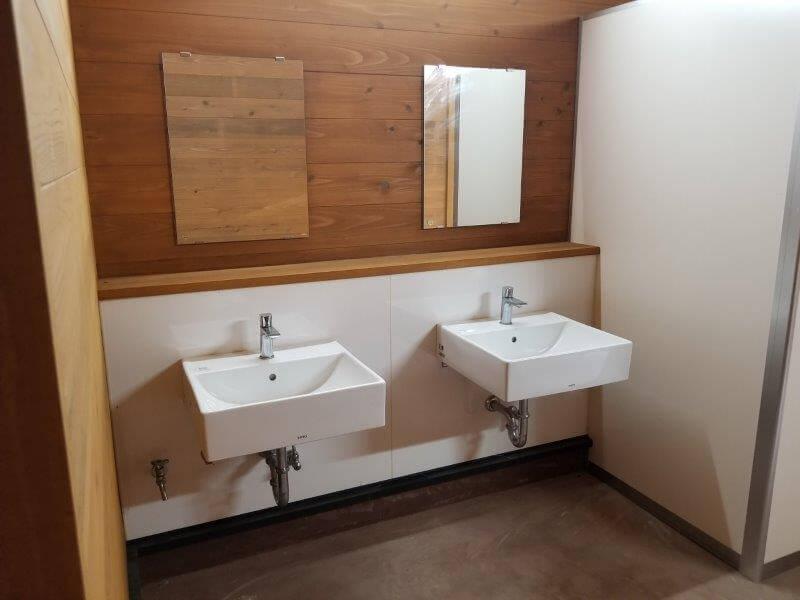 吉無田高原 緑の村 フリーサイト横にあるトイレの手洗い場