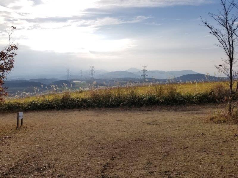 吉無田高原 緑の村キャンプ場 Aサイト:ゆうすげの丘エリア 小区画2番サイト