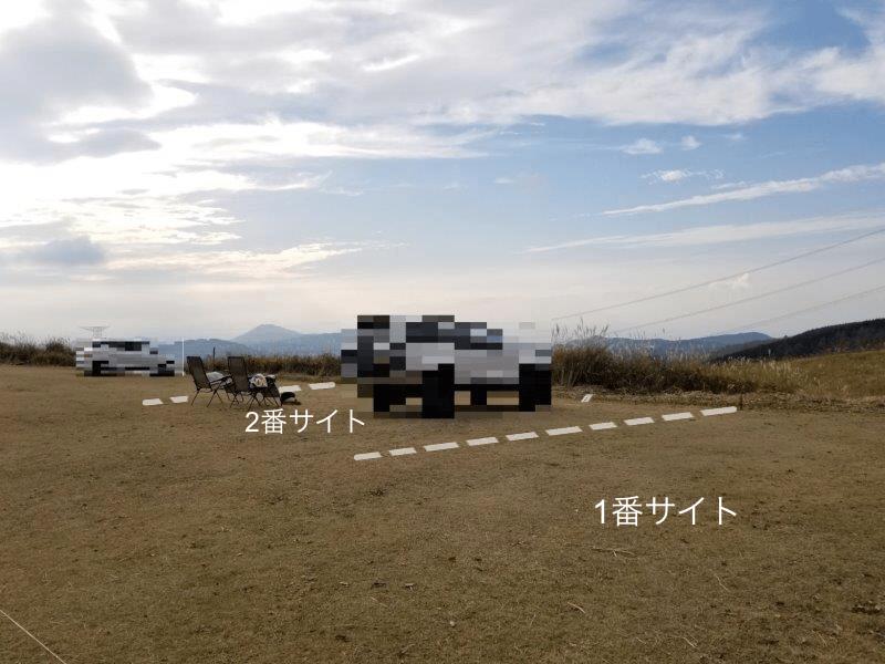 吉無田高原 緑の村キャンプ場 Aサイト:ゆうすげの丘エリア1.2番サイト