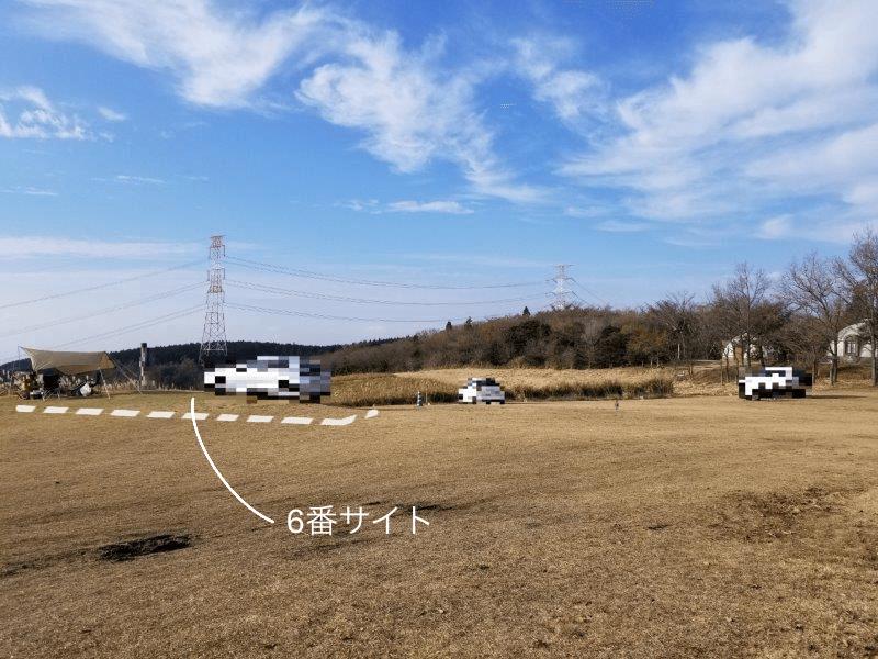 吉無田高原 緑の村キャンプ場 Aサイト:ゆうすげの丘エリア 6番サイト