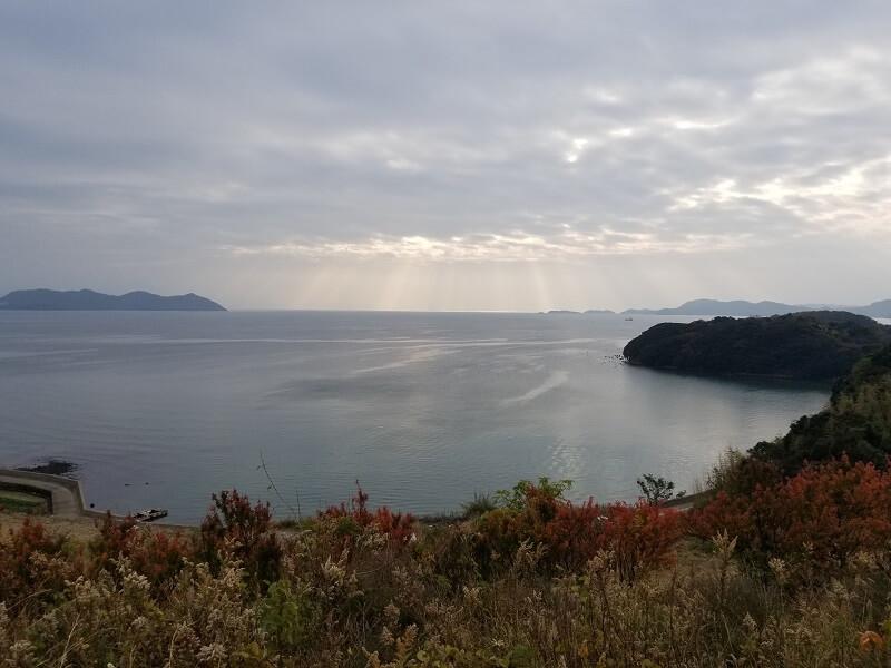 西海橋オートキャンプ場 受付裏からの海の景色