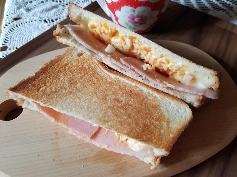 SOTO「トーストサンドパン」でつくった卵ハムサンド