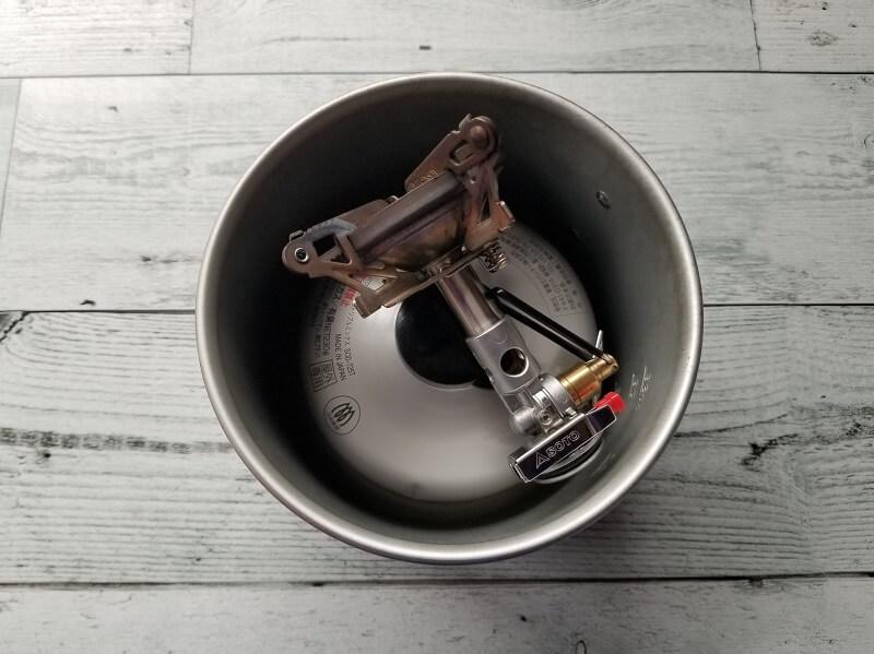 SOTO マイクロレギュレーターストーブ ウインドマスター クッカーにすっぽり
