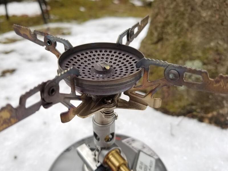 SOTO マイクロレギュレーターストーブ ウインドマスターのすり鉢状ヘッド