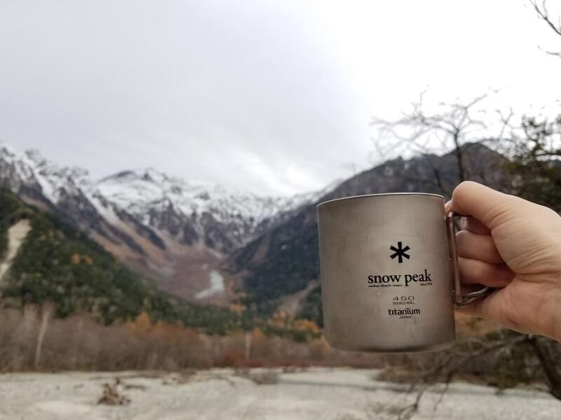 スノーピーク「チタンカフェプレス」で紅茶を淹れる(紅茶を飲む)