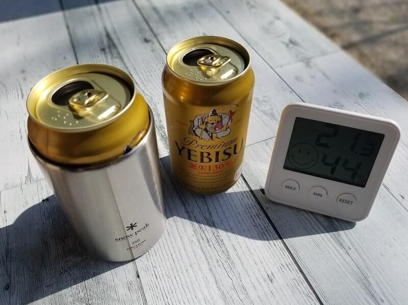 snowpeak「缶クーラー350」の保冷効果を検証してみた