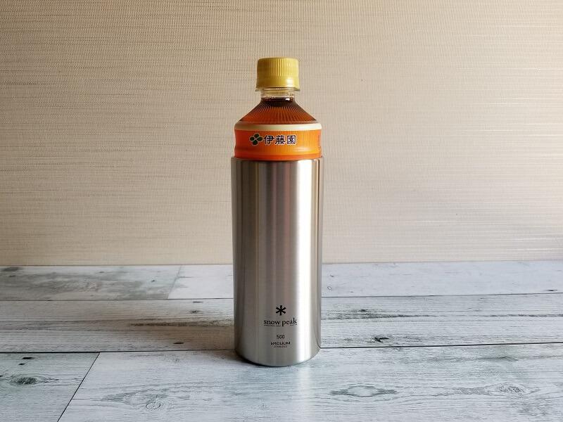 snowpeak「缶クーラー500」にペットボトルも入る