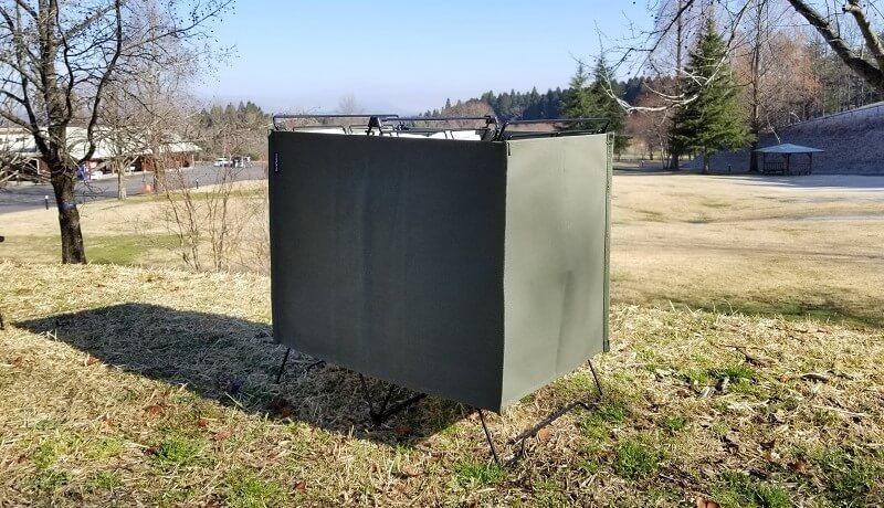 ユニフレーム「UFダストスタンド4」に専用カバーを装着