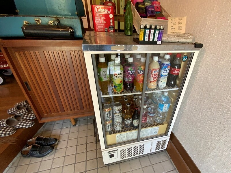 【糸島ピクニックビレッジオートキャンプ場】売店にはジュースやお酒も