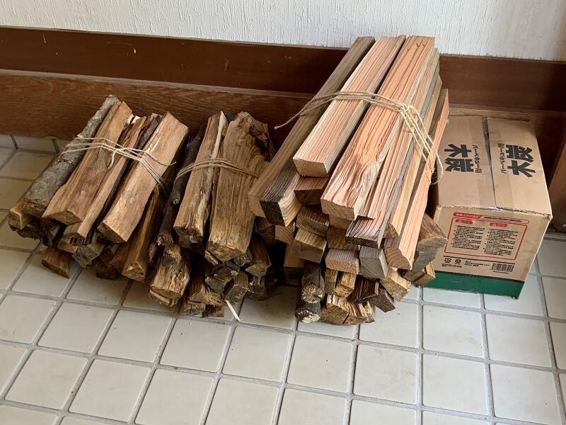 【糸島ピクニックビレッジオートキャンプ場】販売されている薪や木炭