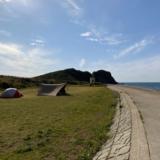 【糸島ピクニックビレッジオートキャンプ場】テントサイトと芥屋の大門