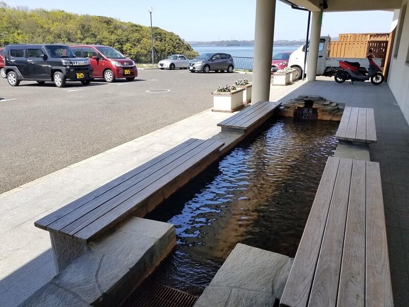 川棚大崎温泉 しおさいの湯 無料の足湯
