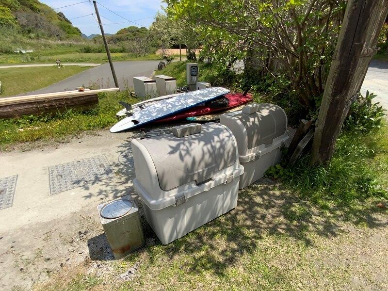 【御飯屋おはなBBQ&キャンプサイト】ゴミ捨て場