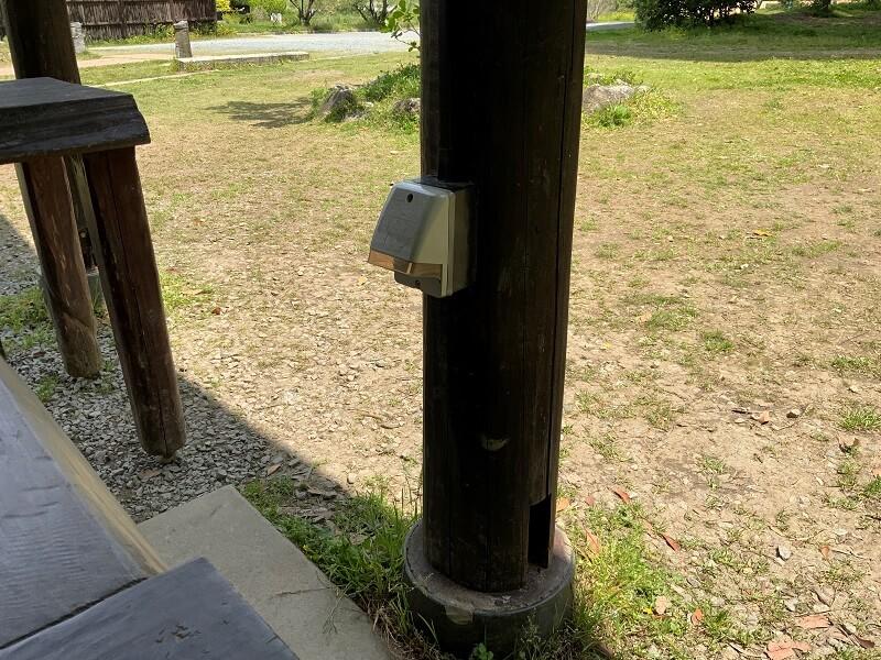 【御飯屋おはなBBQ&キャンプサイト】区画サイトBにある電源設備