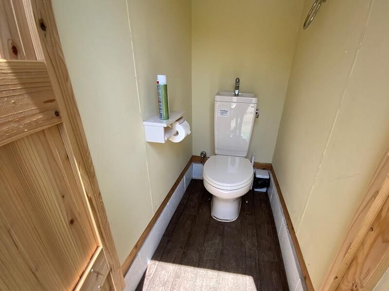 【御飯屋おはなBBQ&キャンプサイト】トイレ設備