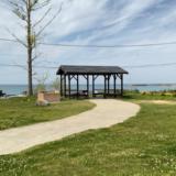 【御飯屋おはなBBQ&キャンプサイト】区画サイトAからは海が一望できる