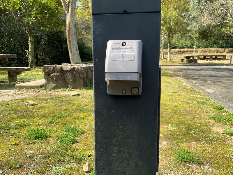 大崎自然公園キャンプ場 AC電源の利用も可能