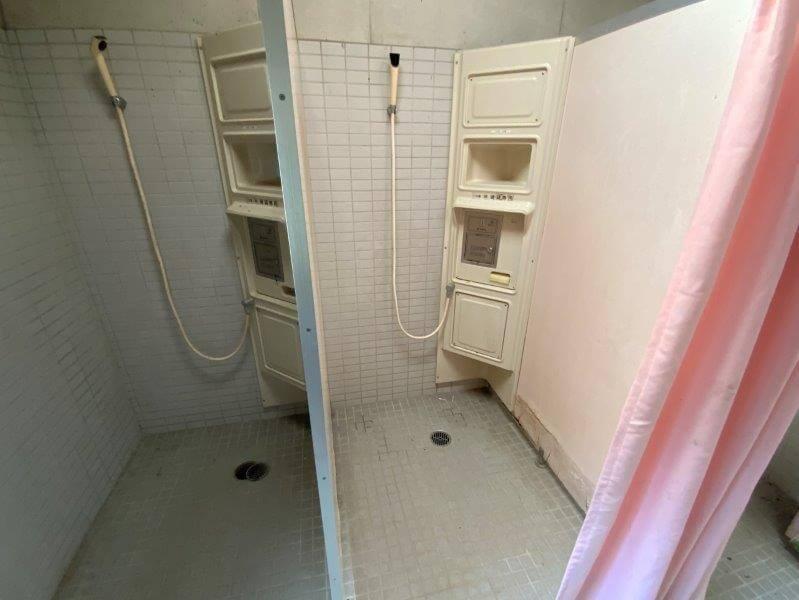 大崎自然公園キャンプ場にあるシャワールーム