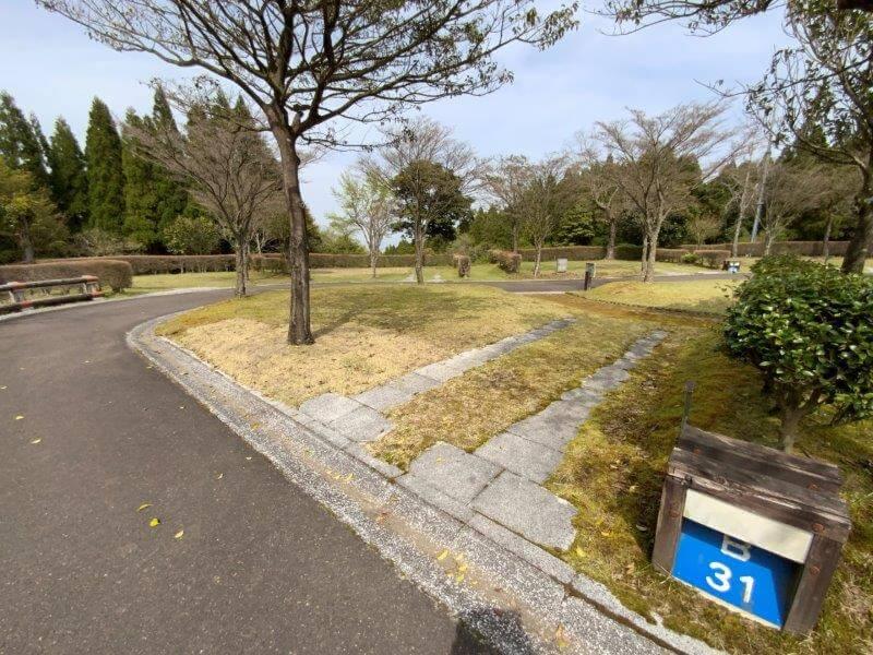 【ひなもりオートキャンプ場】個別サイトB-31番
