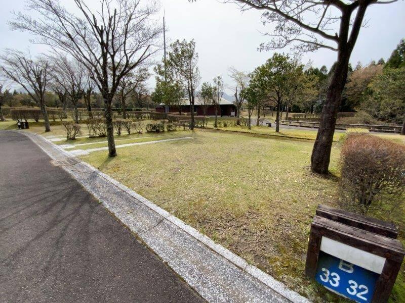 【ひなもりオートキャンプ場】個別サイトB-33番