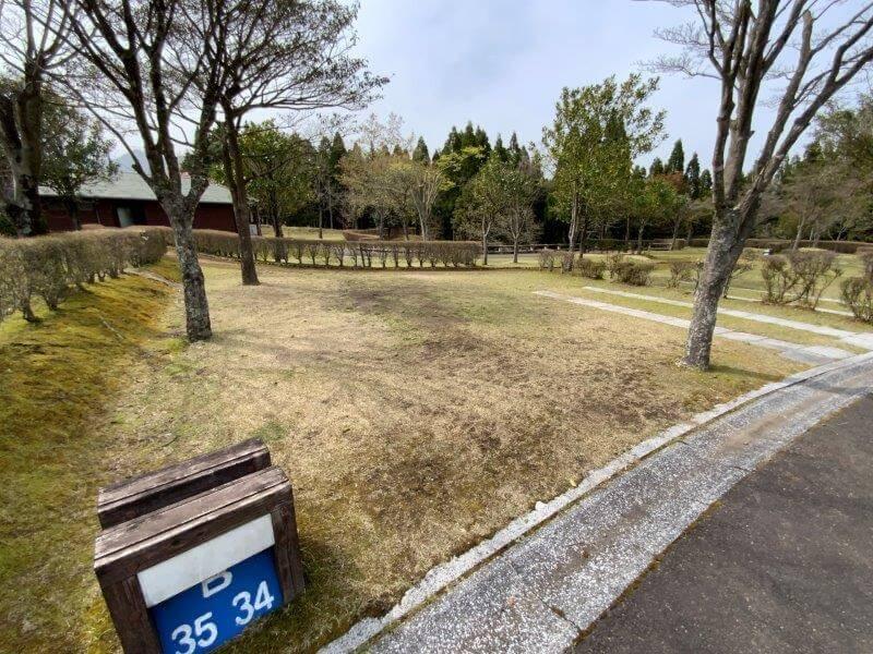 【ひなもりオートキャンプ場】個別サイトB-34番
