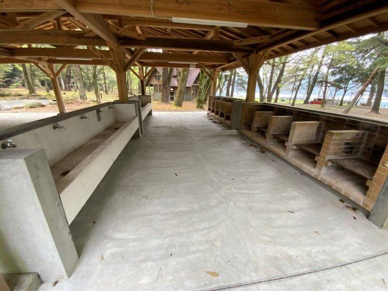 【御池キャンプ村】東側の炊事棟
