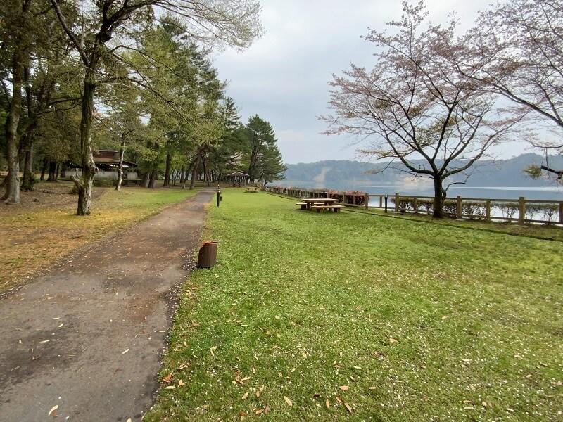 【御池キャンプ村】湖畔沿いのY(ヤイロチョウ)サイト