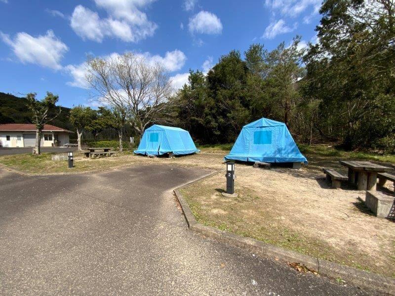 【大崎自然公園キャンプ場】オートサイト 1・2番サイト