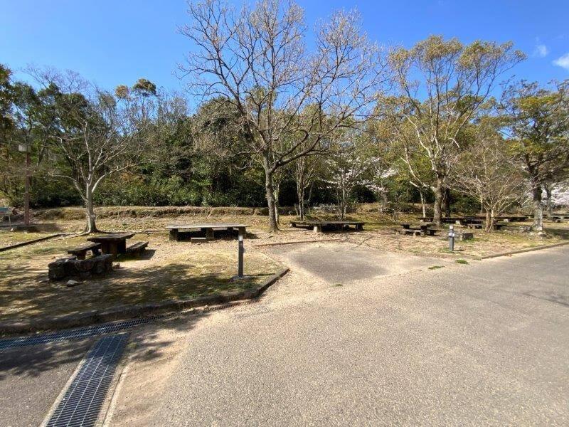 【大崎自然公園キャンプ場】オートサイト 11・12番サイト