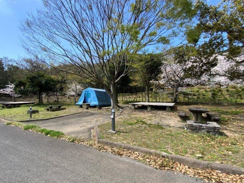 【大崎自然公園キャンプ場】オートサイト 19・20番サイト