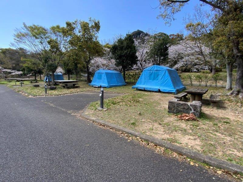 【大崎自然公園キャンプ場】オートサイト 21・22番サイト
