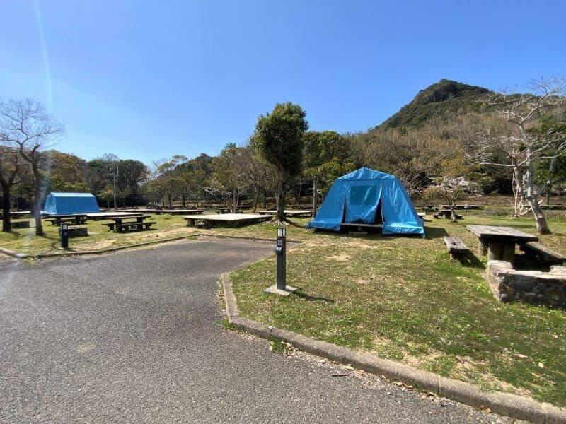 【大崎自然公園キャンプ場】オートサイト 23・24番サイト
