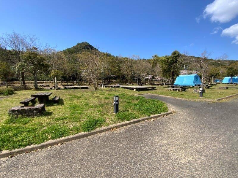 【大崎自然公園キャンプ場】オートサイト 27・28番サイト