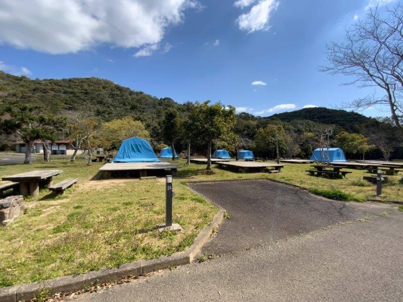 【大崎自然公園キャンプ場】オートサイト 33・34番サイト