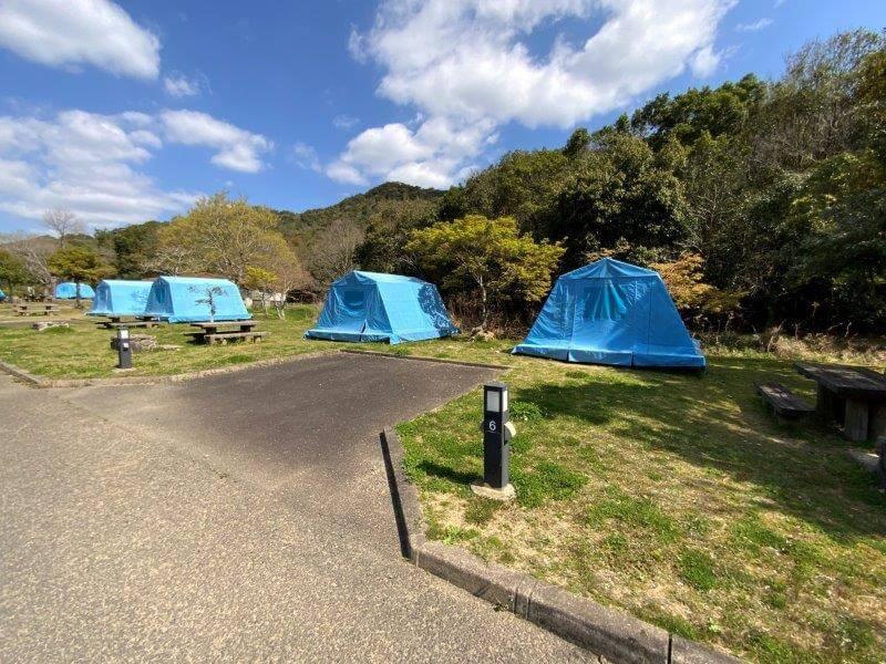 【大崎自然公園キャンプ場】オートサイト 5・6番サイト