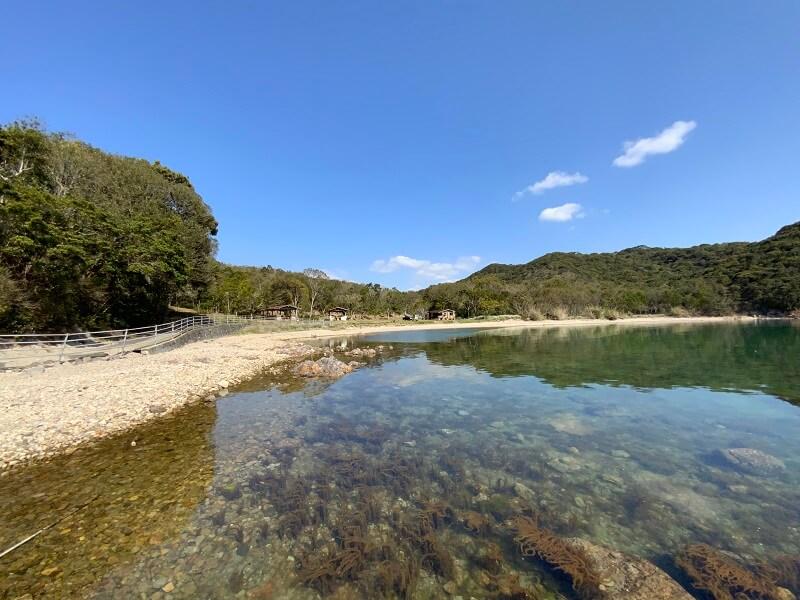 【大崎自然公園キャンプ場】フリーサイト前は海がある