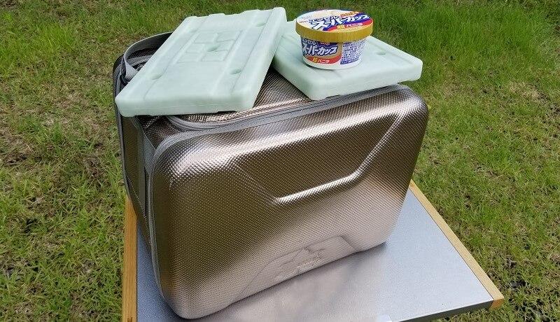 夏キャンプでアイスは食べられる?ロゴス「ハイパー氷点下クーラー」を使ってみた