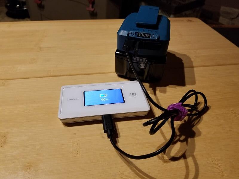 マキタ製USB用アダプタがあればスマホ充電し放題