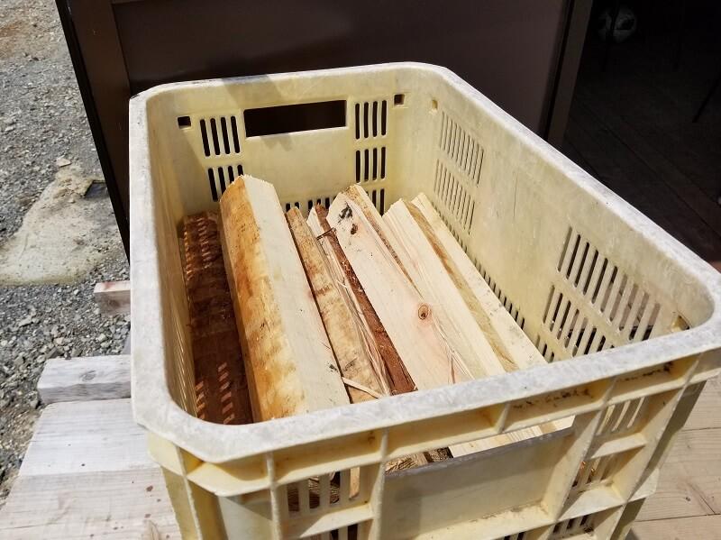 西海橋オートキャンプ場では薪が購入できます