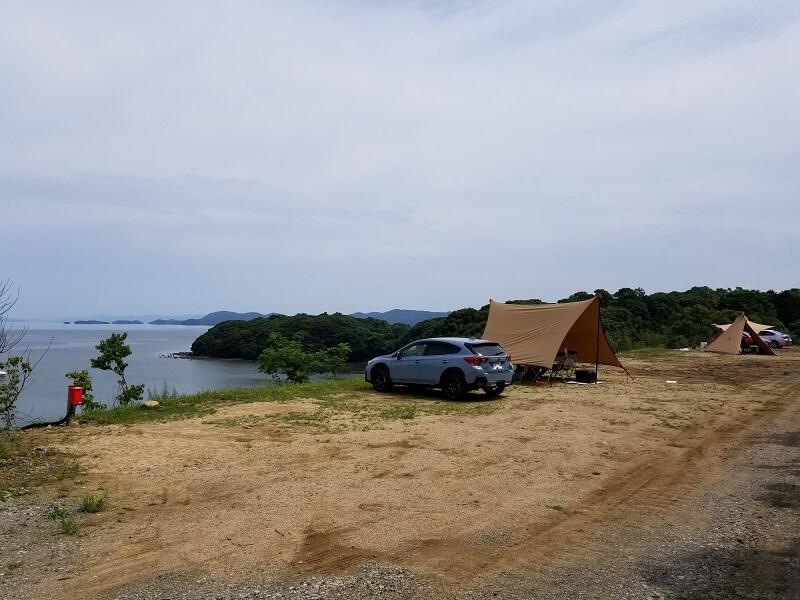 【西海橋オートキャンプ場】高台の上にある第3サイト