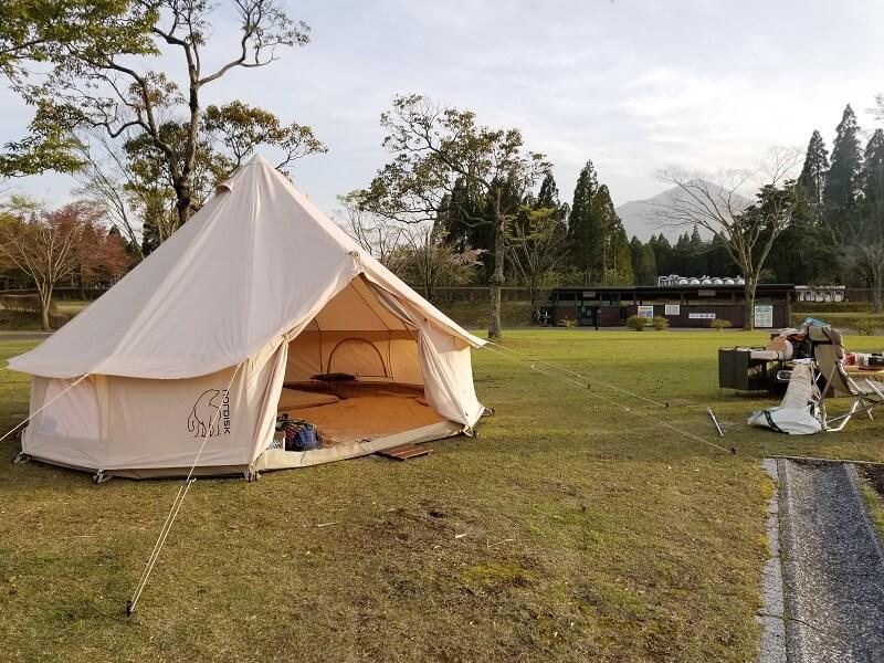 【ひなもりオートキャンプ場の旅行記】アスガルドを設営しました
