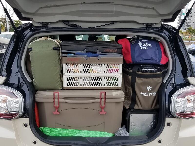 【ひなもりオートキャンプ場の旅行記】荷物を積んで出発です