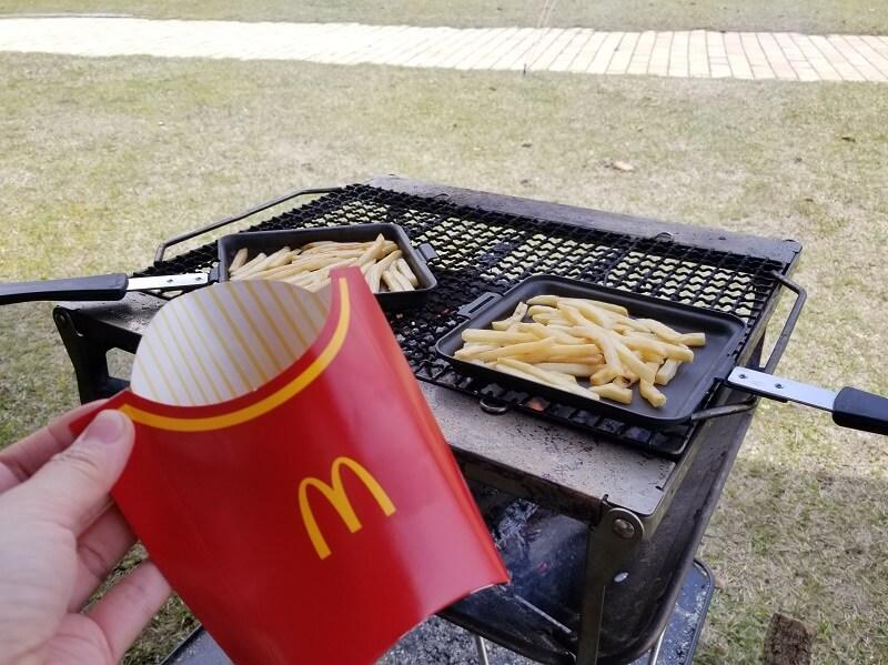 【ひなもりオートキャンプ場の旅行記】キャンプ場にマクドナルドを持ち帰る
