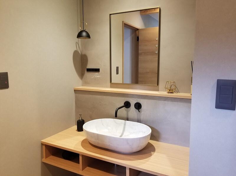 NORTH VALLEY(ノースバレー)キャンプサイト シャワールームにある洗面台