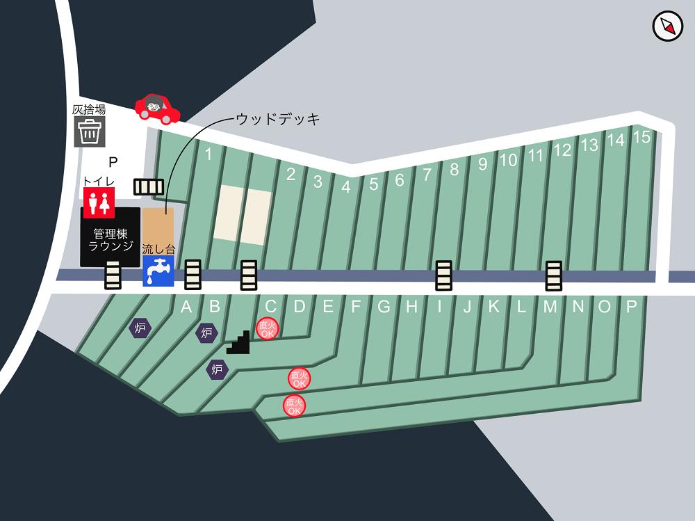 橘香園 場内マップ